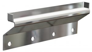 Gutterless mount with stainless steel finish